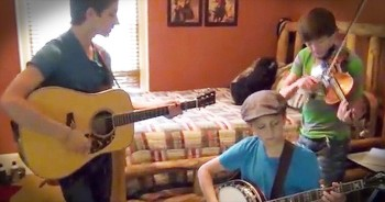 3 Talented Bluegrass Brothers Jam In Their Bedroom