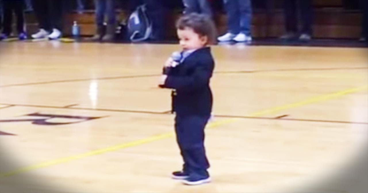 Precious 2-Year-Old BELTS Out The Cutest Version Of The National Anthem