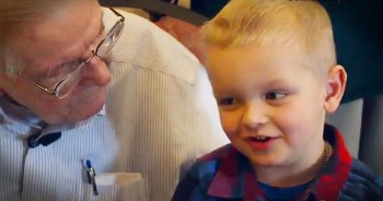WWII Vet Celebrates 90th Birthday With His 4-Year-Old Friend