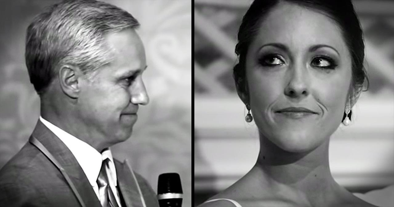 Father's Wedding Speech Makes Bride Feel Like A Real Life Princess