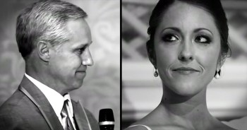 Father's Wedding Speech Makes Bride Feel Like A Real Life Princess
