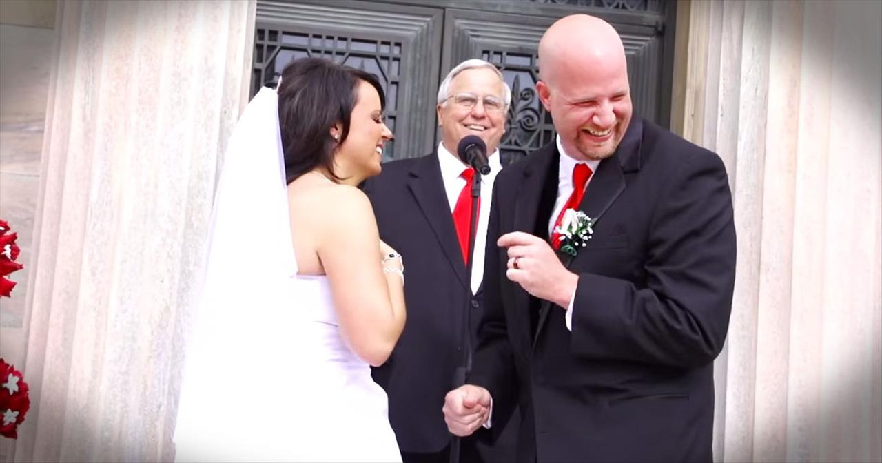 Bride And Groom's Funny First Kiss Will Have You LOLing For Days!