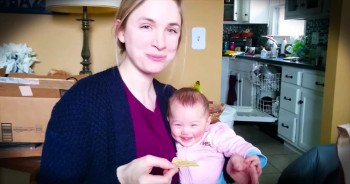 Adorable Baby Can't Stop Laughing When Mom Does THIS!