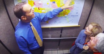 Man Brings Cheer With Surprise Weather Reports In The Elevator