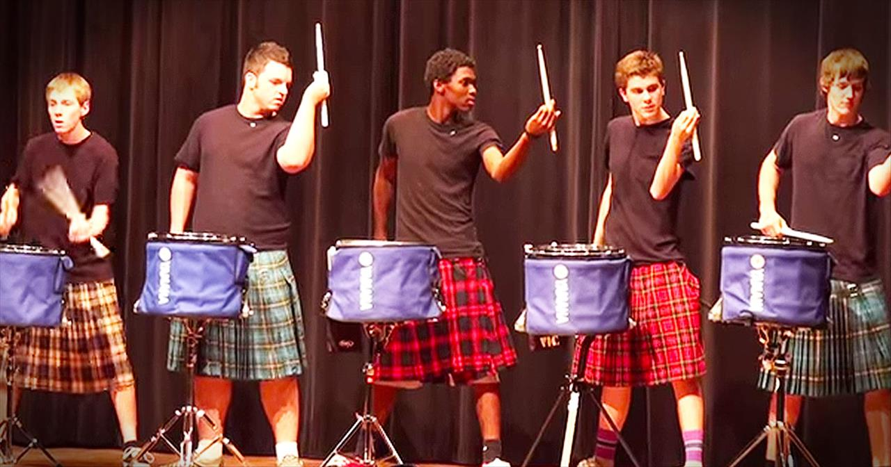 Teens Win Talent Show With Impressive Drum Line Routine