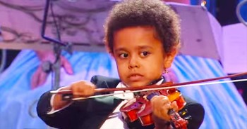 5-Year-Old Violin Prodigy Has Amazing Gift From God