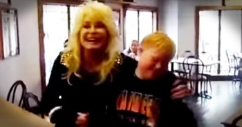 Dolly Parton Sings With Young Boy With Down Syndrome