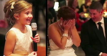 Precious Flower Girl Sings 'Love Is An Open Door' At Wedding Reception