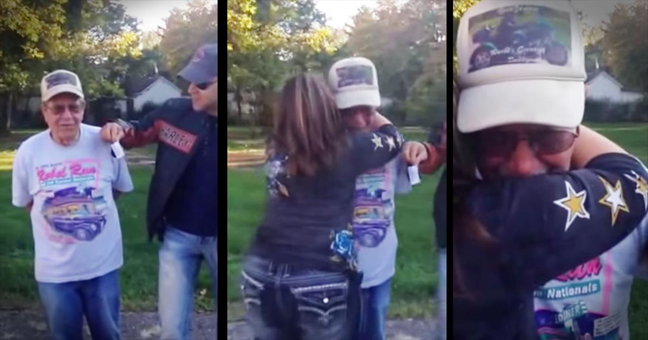 Sisters Surprise Their 85-Year-Old Dad With A Harley Motorcycle