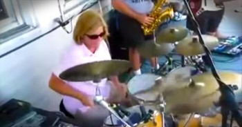 Mom Surprises Everyone With Amazing Drum Skills To 'Wipeout'