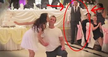 Father Cuts In On Bride And Groom Dance