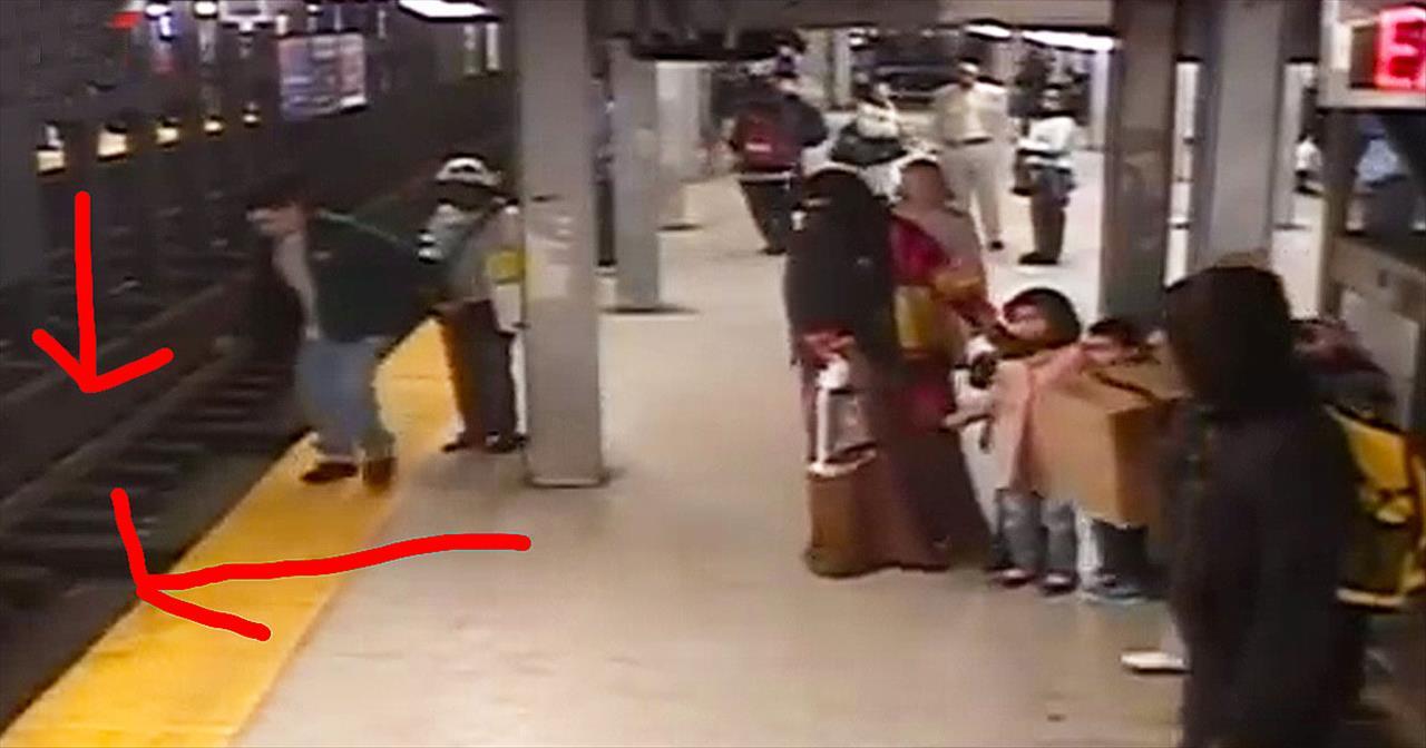 Good Samaritan Rescues Man Who Fell Onto Subway Tracks