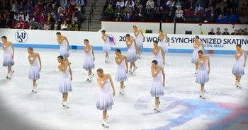 Breathtaking Russian Synchronized Skating Routine