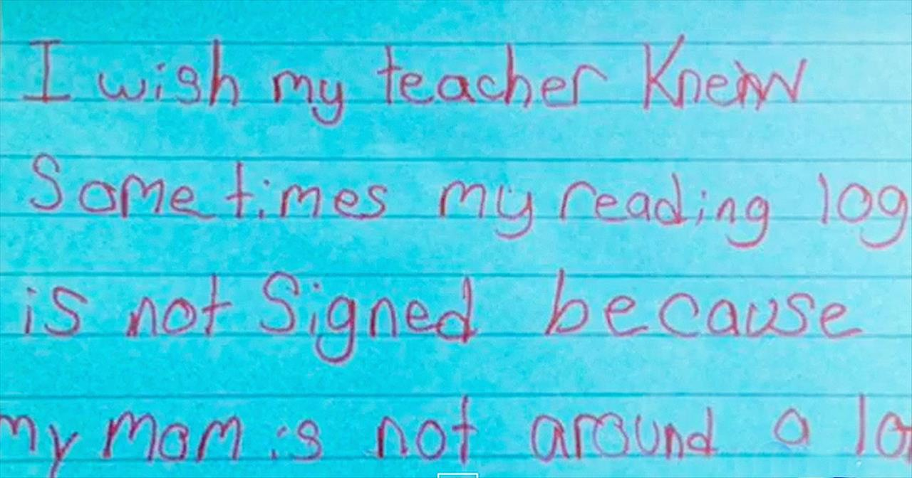 Students Write Moving Notecard Confessions For Teacher