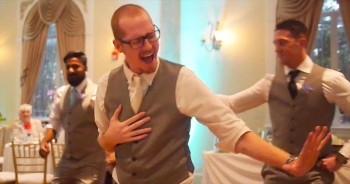 Groom Surprises Bride With EPIC Lip Sync To 'Never Gonna Give You Up'