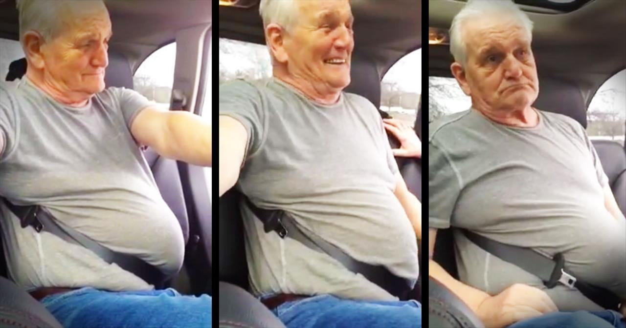 Man And Family Laugh When He Gets Stuck In His Seatbelt