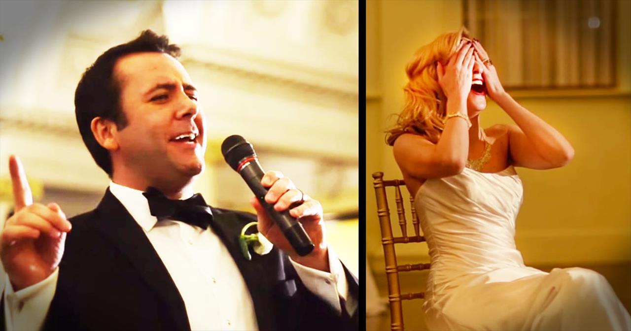 Groom Surprises Bride With Michael Buble Serenade