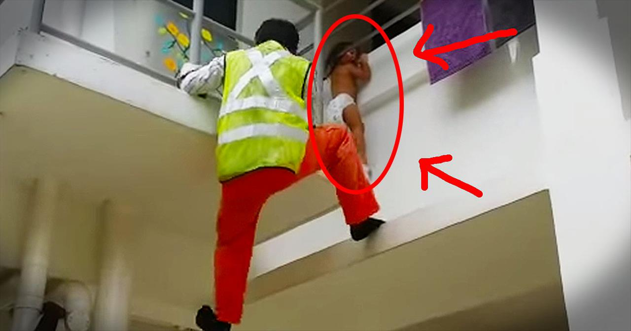 Construction Worker Saves Baby Dangling From Window