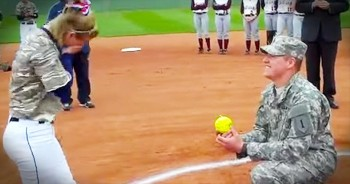 Soldier's Surprise Proposal Knocked It Out Of The Park