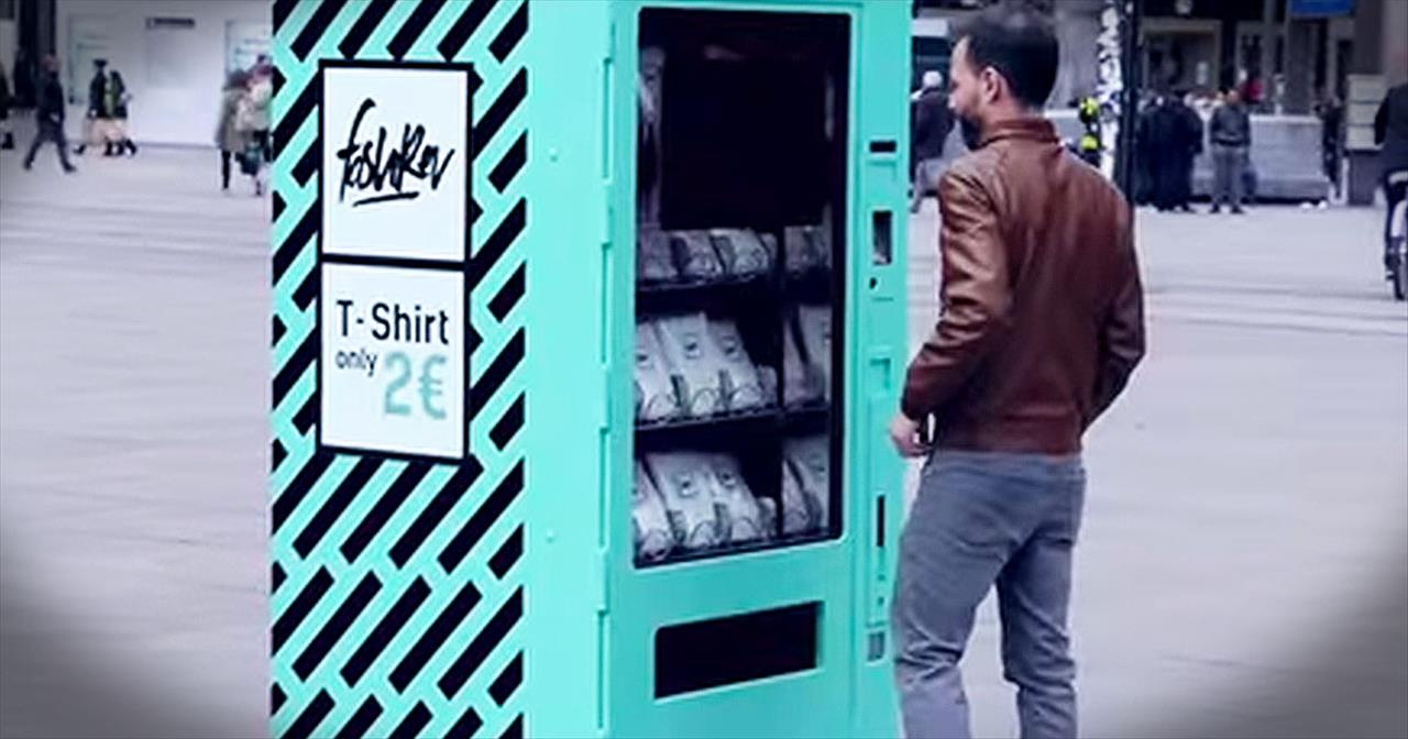 Vending Machine Shows Truth Behind Bargain Clothing