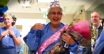 Hospital Celebrates 90-Year-Old Nurse's Birthday