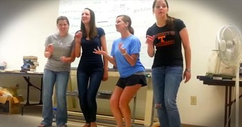 Incredible Barbershop Quartet During Class Is Toe-Tappin' Good!