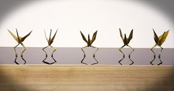 Synchronized Dancing Origami Cranes Will Blow Your Mind
