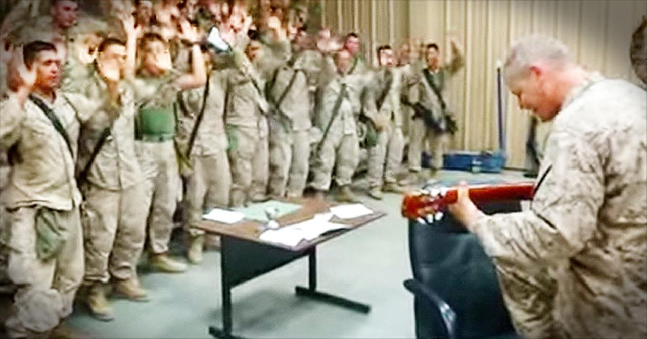Marines Sing Glorious Version Of 'Lord, I Lift Your Name On High'