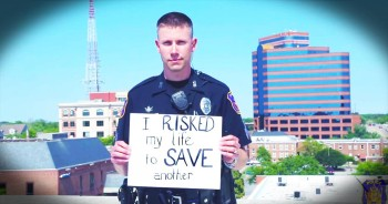 Cardboard Testimonies From Police Officers Will Choke You Up