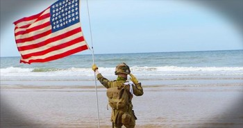 11-Year-Old Salutes On Beach For Over An Hour To Honor Veterans