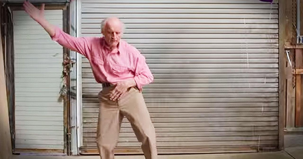 Grandpa Defies Age And Dances Like A Young Man