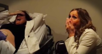 Sister Has The BEST Reaction To Ultrasound Revealing Twins!