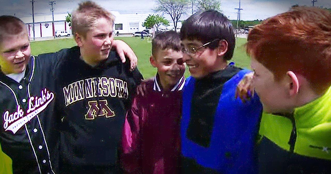 5 Boys Stand Up For Bullied Child With Special Needs