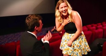 Epic Marriage Proposal In Packed Movie Theater