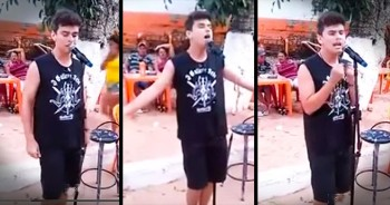 Young Man's Whitney Houston Karaoke Song STUNS Everyone