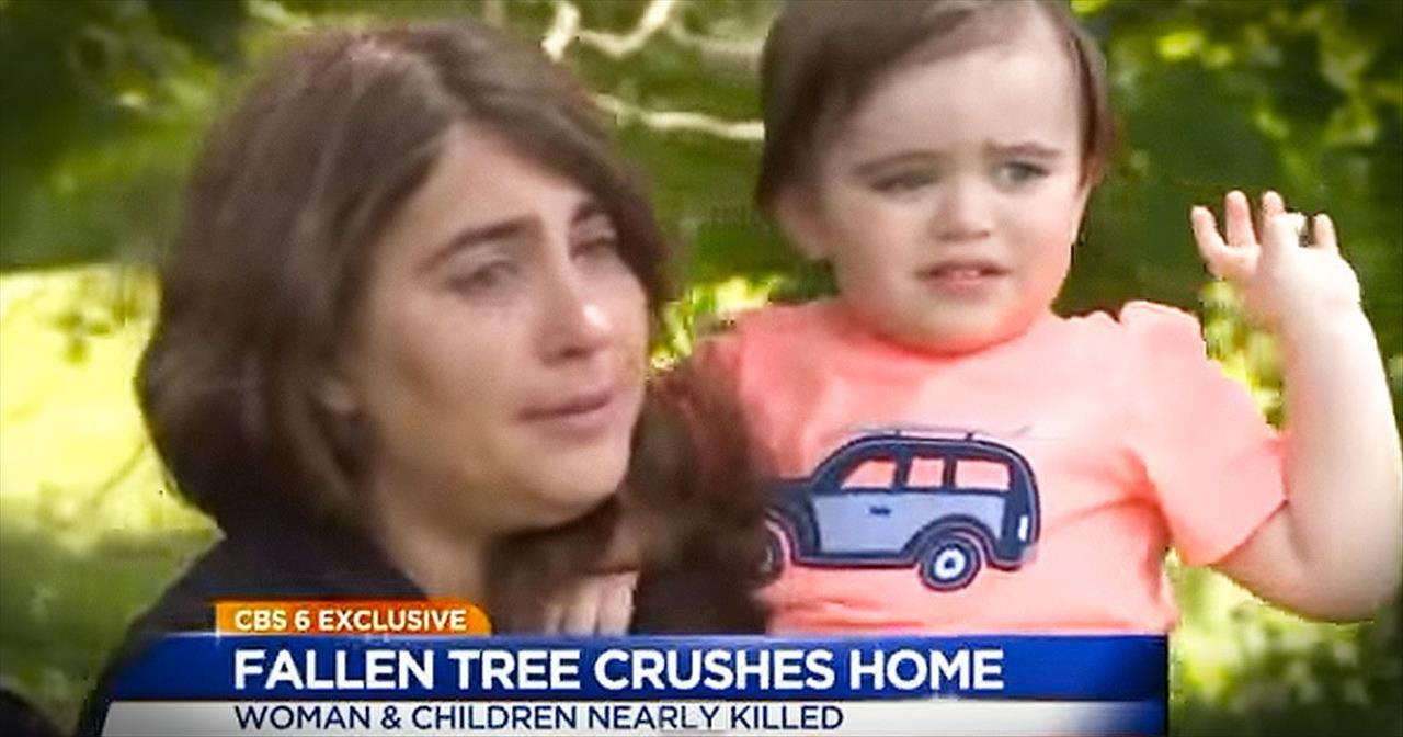 Grandma Prays When Tree Crashes Into House