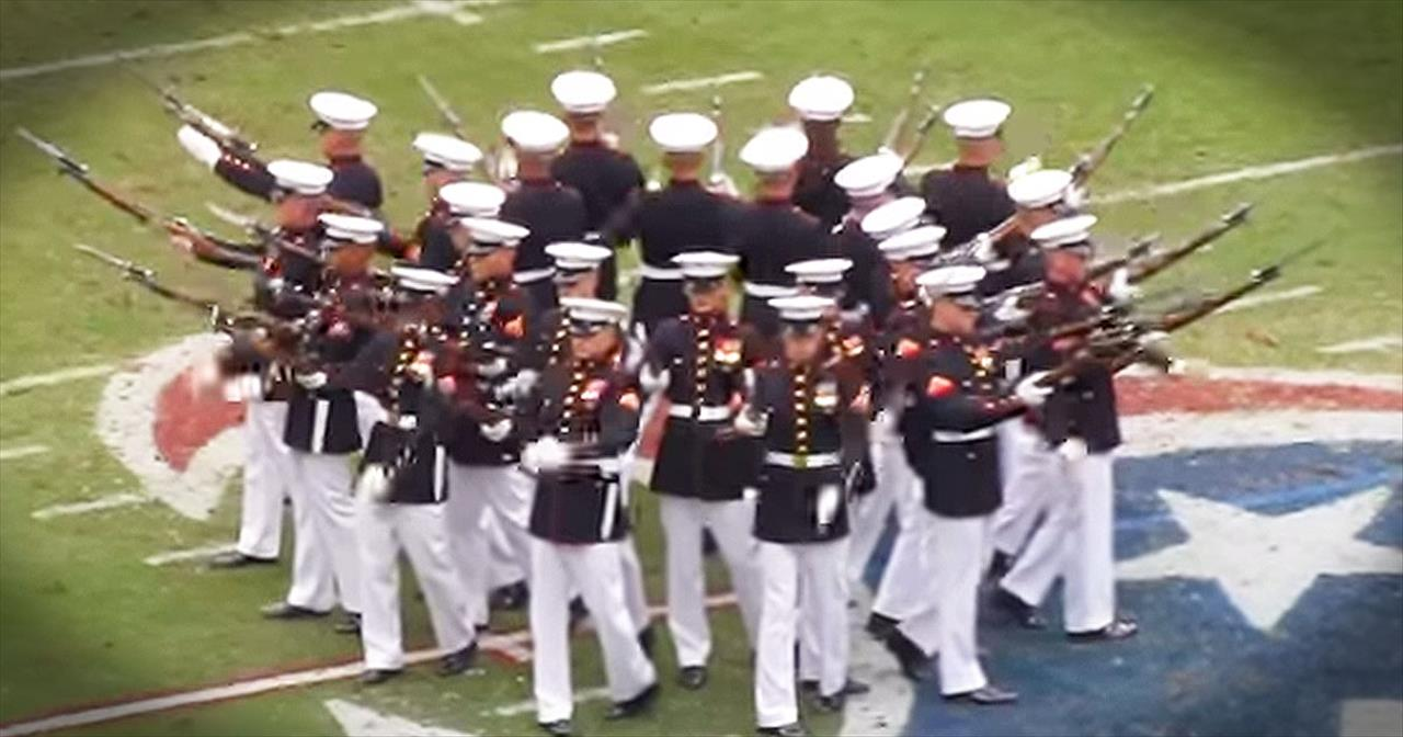 Marine Drill Team WOWs Arena With Talented Performance