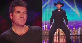 Country Guys Shock A Bored Simon With Incredible Line Dance Routine