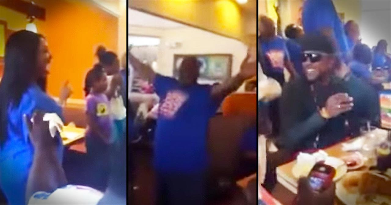 Choir Performs 'God's On Your Side' At IHOP