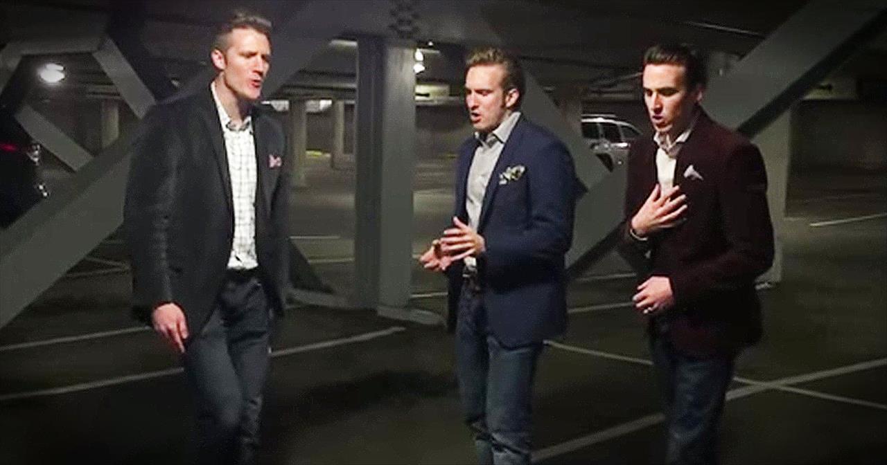 3 Guys Sing A Cappella In A Parking Garage