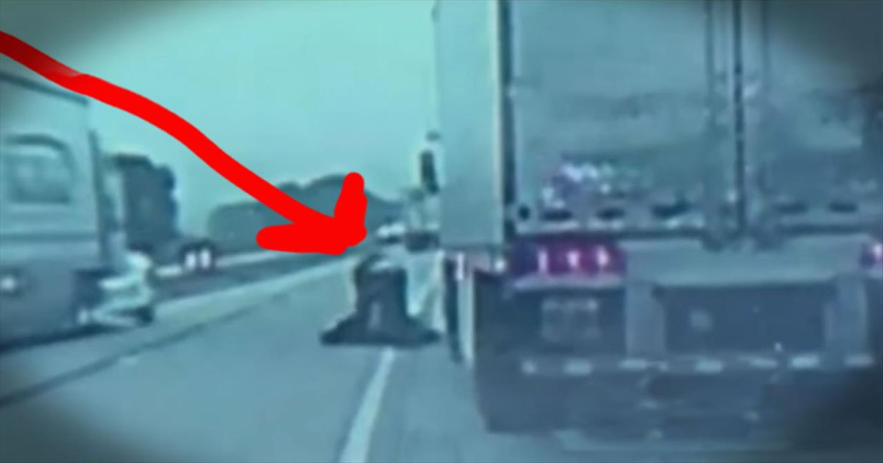 3 Guardian Angels Save A Truck Driver's Life