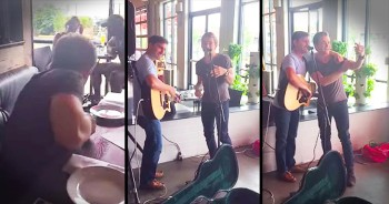 Country Super Star Surprises Local Restaurant Performer With Duet
