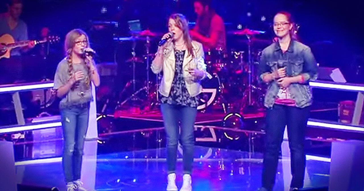 3 Young Girls Sing Chilling Version Of 'Angel'