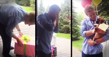 Boyfriend Gets Surprised With Boxer Puppy