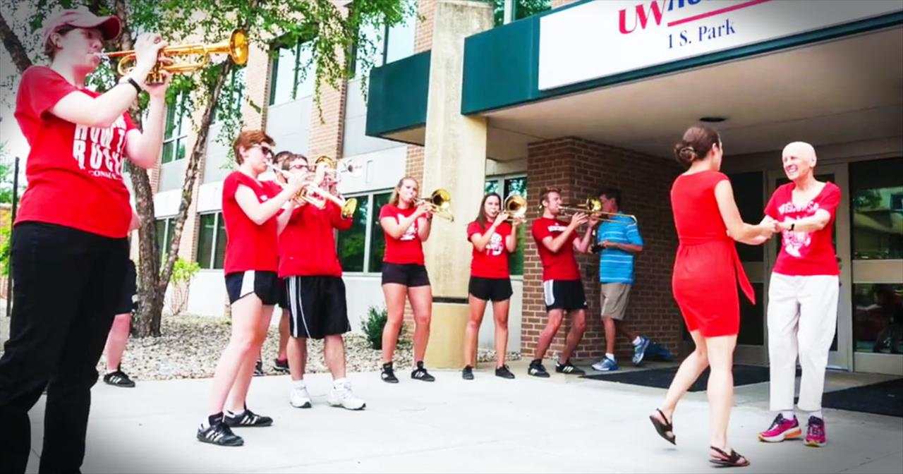 Cancer Patient Celebrates Last Day Of Chemo With Marching Band Performance