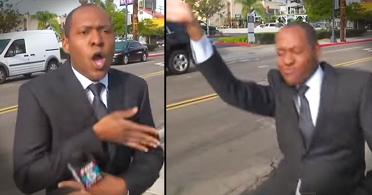 Reporter Busts Into Hilarious Dance During Commercial Break