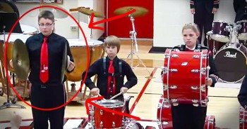 Child Drops Cymbal During Star-Spangled Banner And Then Does THIS!