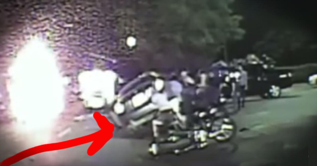 Strangers Save Motorcyclist Trapped Under A Car
