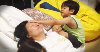 Joshua Praying for Mommy