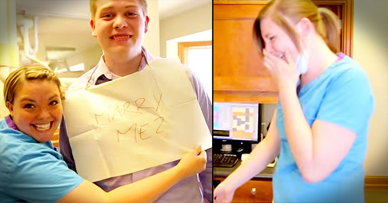 He Turned A Toothache Into A Beautiful Proposal. AWWW!